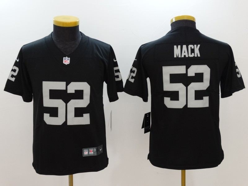 Youth Oakland Raiders 52 Mack Black Nike Vapor Untouchable Limited Jersey