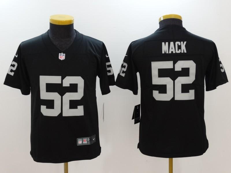 Youth Oakland Raiders 52 Mack Black Nike Vapor Untouchable Limited Jersey