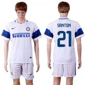 2016-2017 club Inter Milan away 21 White Soccer Jersey