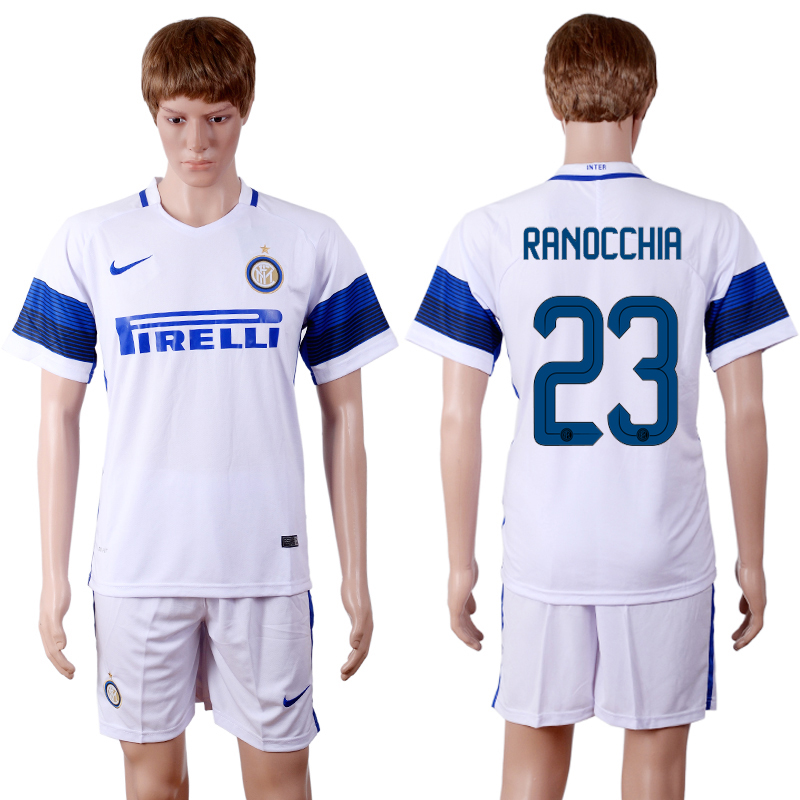 2016-2017 club Inter Milan away 23 White Soccer Jersey