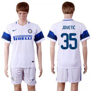 2016-2017 club Inter Milan away 35 White Soccer Jersey