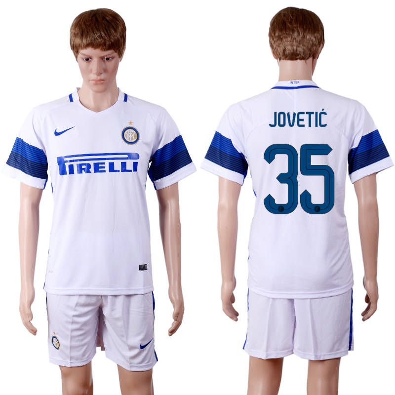 2016-2017 club Inter Milan away 35 White Soccer Jersey