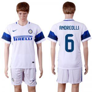 2016-2017 club Inter Milan away 6 White Soccer Jersey