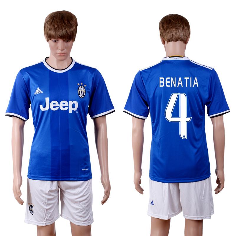 2016-2017 club Juventus away 4 Blue Soccer Jersey