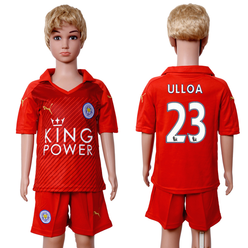 2016-2017 club Leicester City home kids 23 Red Soccer Jersey