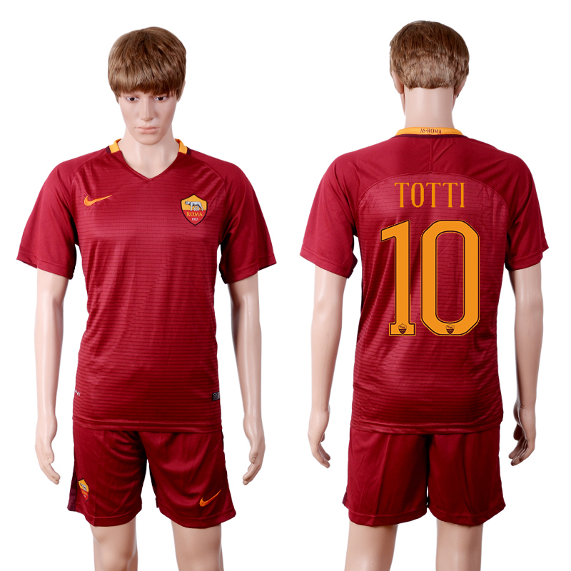 2016-2017 club Rome home 10 Red Soccer Jersey