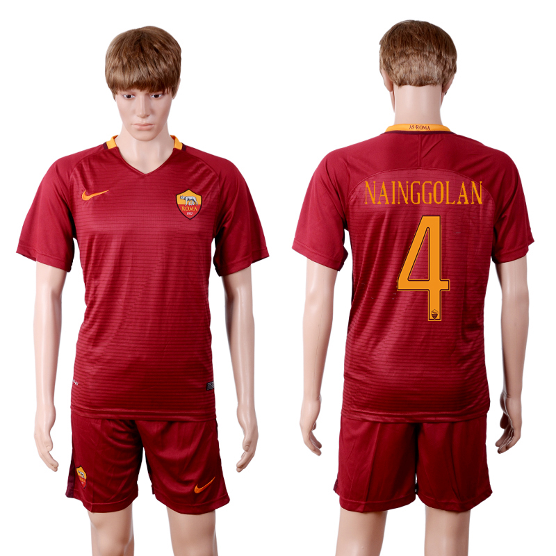 2016-2017 club Rome home 4 Red Soccer Jersey