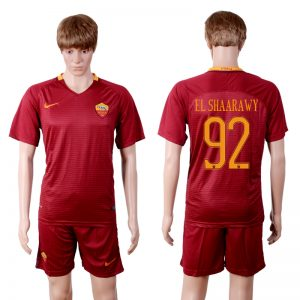 2016-2017 club Rome home 92 Red Soccer Jersey