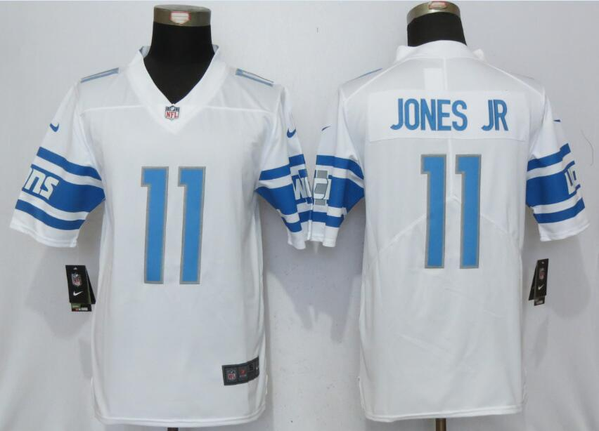 Detroit Lions 11 Jones jr White Vapor Untouchable New Nike Limited Player