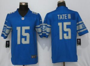 Detroit Lions 15 Tate lll Blue Vapor Untouchable New Nike Limited Player