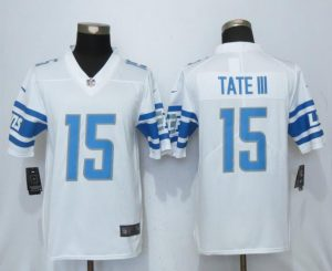 Detroit Lions 15 Tate lll White Vapor Untouchable New Nike Limited Player