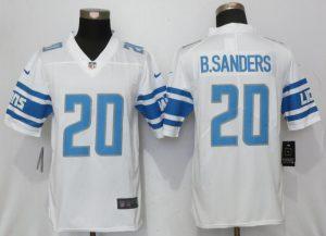Detroit Lions 20 B.Sanders White Vapor Untouchable New Nike Limited Player