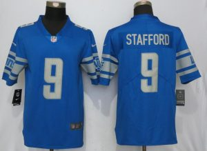 Detroit Lions 9 Stafford Blue Vapor Untouchable New Nike Limited Player