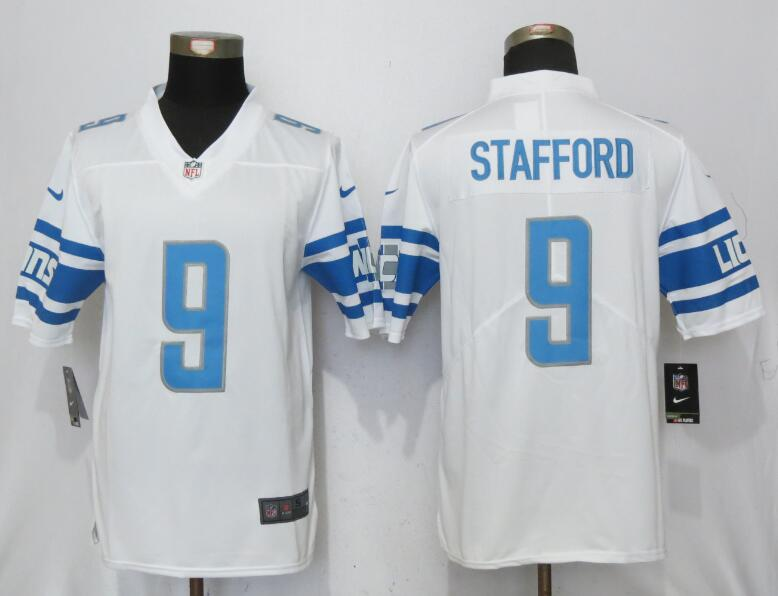 Detroit Lions 9 Stafford White Vapor Untouchable Limited Player Jerseys