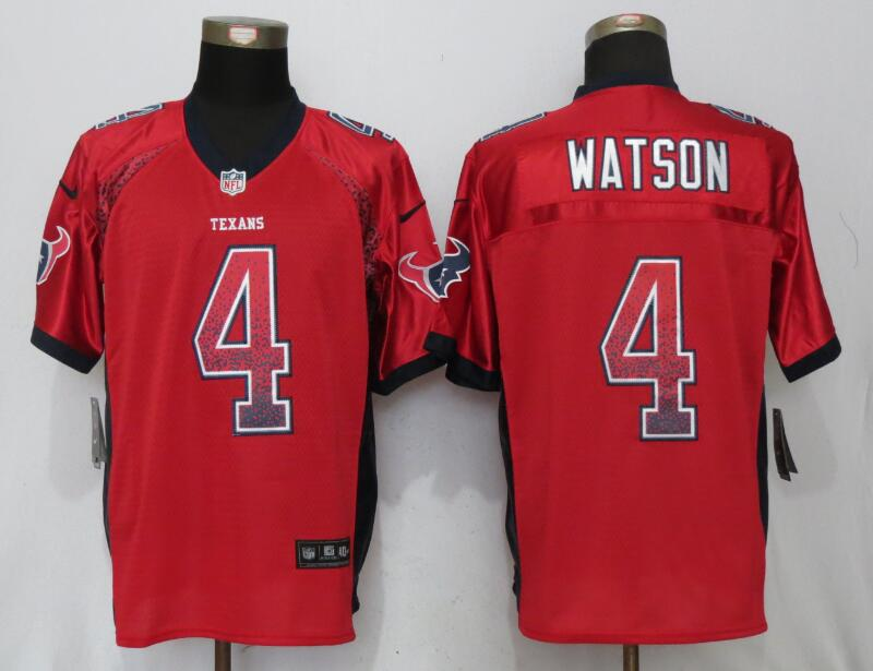 Houston Texans 4 Watson Drift Fashion Red New Nike Elite Jerseys