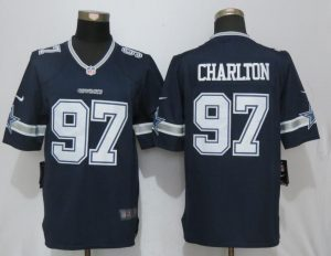 Men Dallas cowboys 97 Charlton Blue Nike Limited NFL Jerseys
