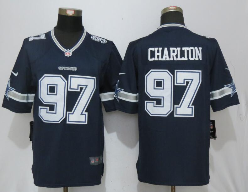 Men Dallas cowboys 97 Charlton Blue Nike Limited NFL Jerseys