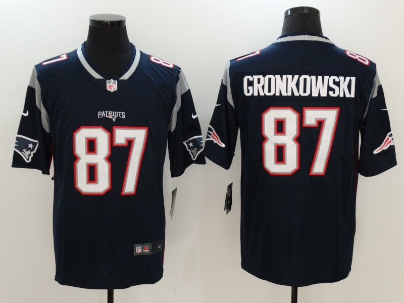 Men New England Patriots 87 Gronkowski Blue Nike Vapor Untouchable Limited NFL Jerseys