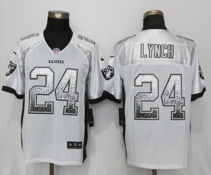 Oakland Raiders 24 Lynch Drift Fashion White NEW Nike Elite Jerseys