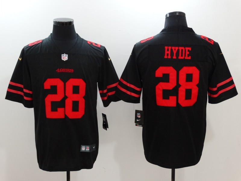 San Francisco 49ers 28 Hyde Black Nike Vapor Untouchable Limited Jersey