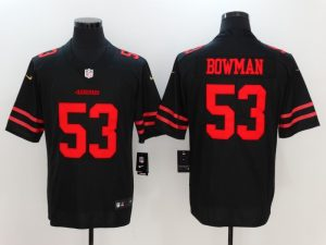 San Francisco 49ers 53 Bowman Black Nike Vapor Untouchable Limited Jersey