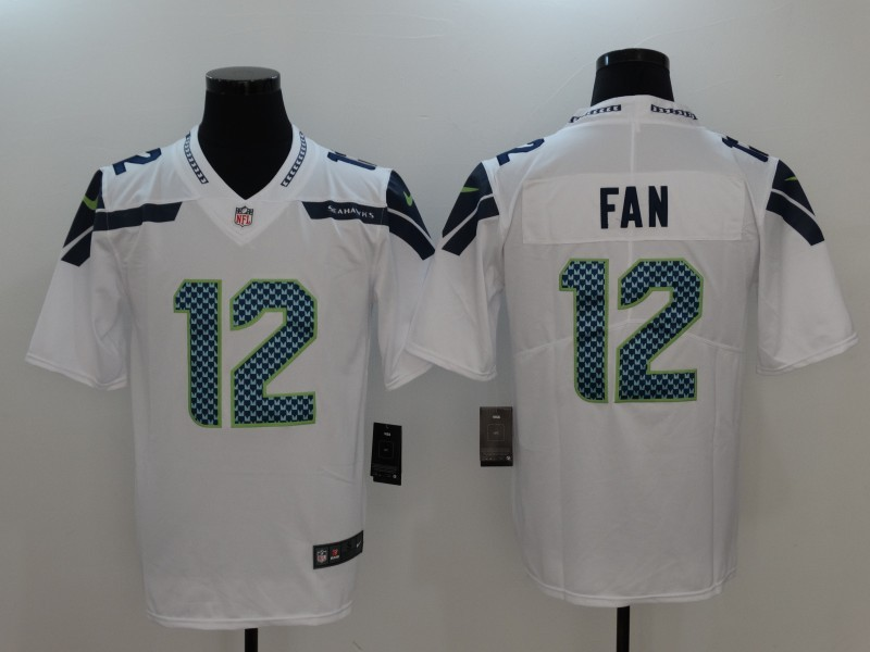 Seattle Seahawks 12 Fan White Nike Vapor Untouchable Limited Jersey