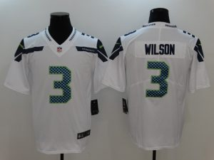 Seattle Seahawks 3 Wilson White Nike Vapor Untouchable Limited Jersey