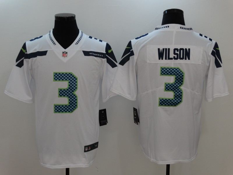 Seattle Seahawks 3 Wilson White Nike Vapor Untouchable Limited Jersey