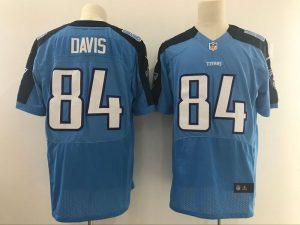 Tennessee Titans 84 Davis Light Blue Nike Elite Jerseys