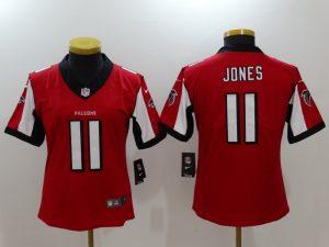 Womens Atlanta Falcons 11 Jones Red Nike Vapor Untouchable Limited Jersey