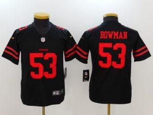 Youth San Francisco 49ers 53 Bowman Black Nike Vapor Untouchable Limited Jersey